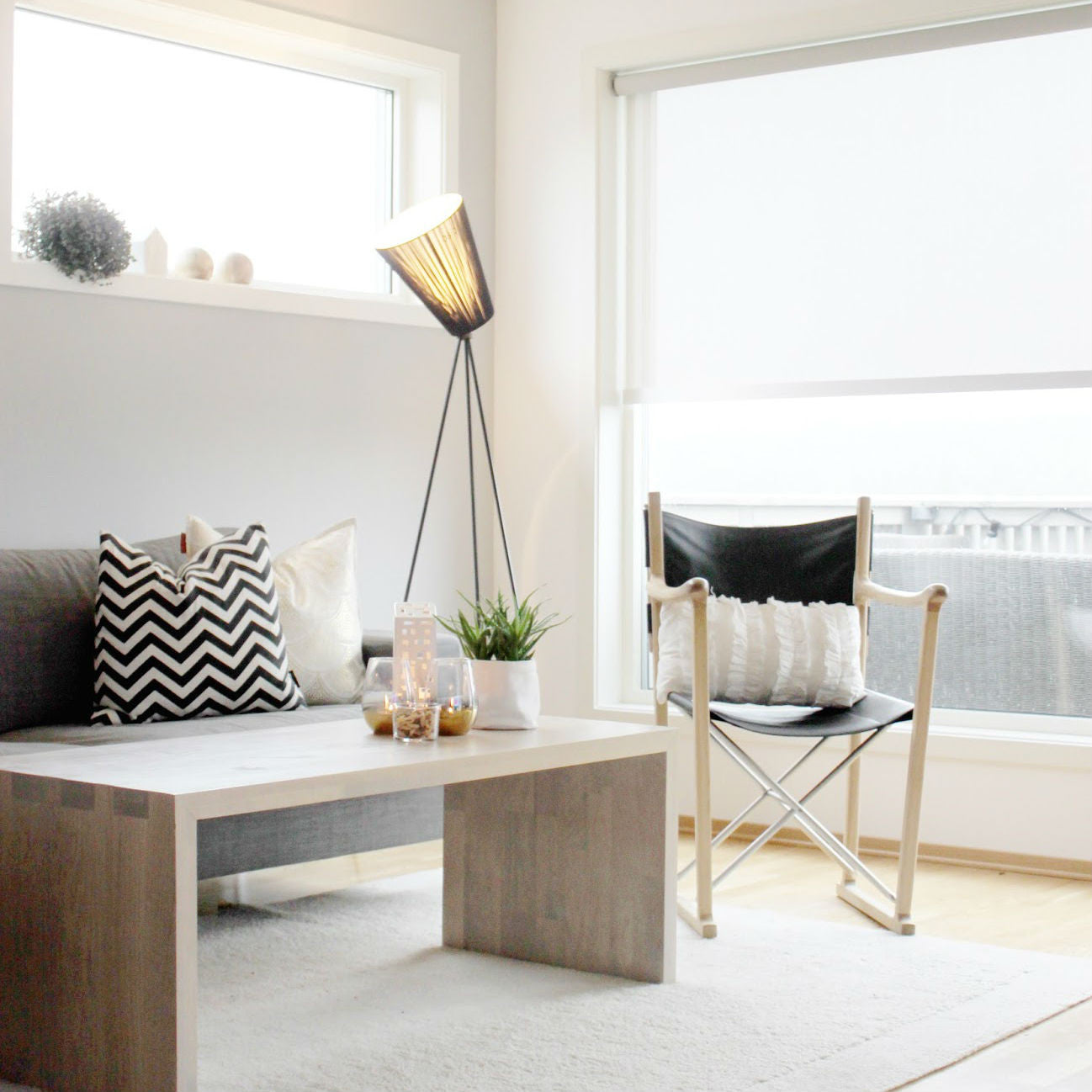 Scandinavian Tripod Floor Lamp Living Room