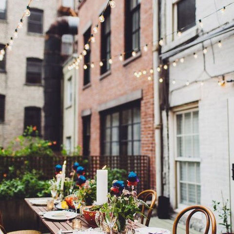 Festoon Lighting || Lighting a Courtyard with String Lights