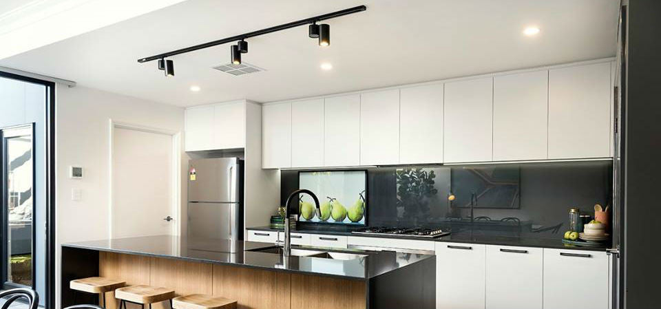 Track Lighting Kitchen | Elements at Home and Aveling Homes Project