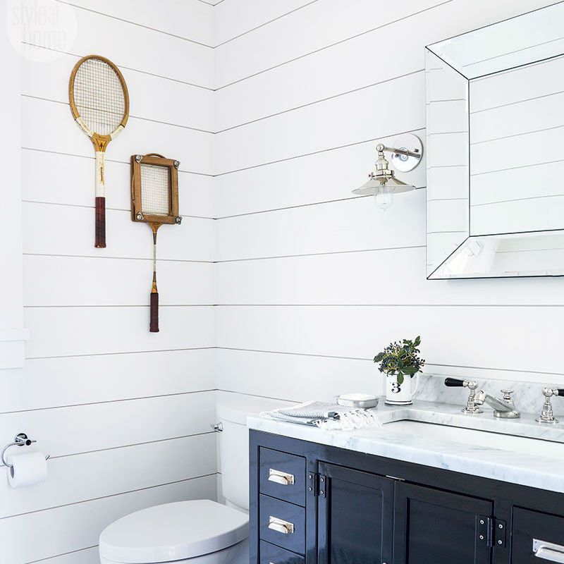 Silver Traditional Wall Lights in Bathroom | Bathroom Vanity Lighting | Lighting Collective