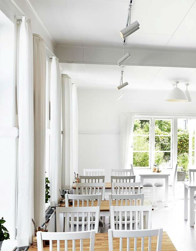 Danish Track Lighting Kit in Cafe | Lighting Collective