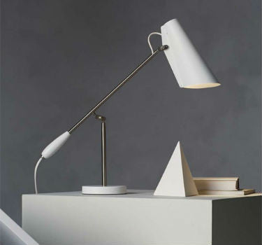 White Modernist Table Lamp by Birger Dahl | Lighting Collective