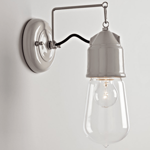 Industrial Italian White Wall Light | Lighting Collective