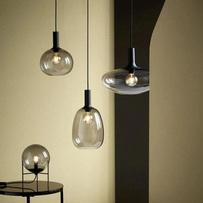 Round Smoked Glass Pendant | Lighting Collective