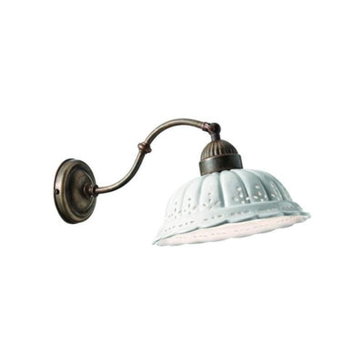 Antique Brass & Ceramic Wall Light | Italian Designed-Wall Lights-IL FANALE (Lightco)-Lighting Collective