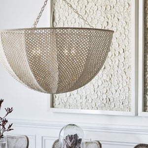 Natural Hand Sewn Chandelier