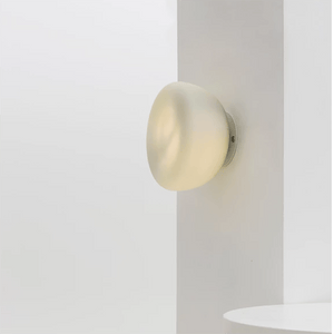 Hand-blown Minimalist Curve Glass Wall Light | Assorted Finish