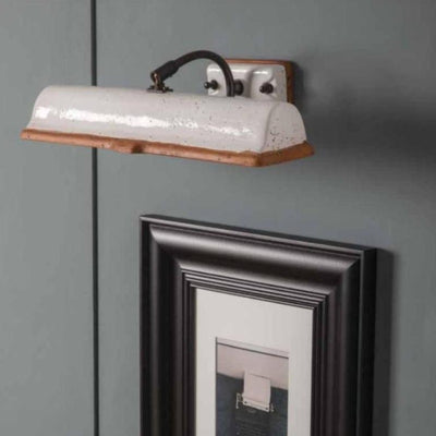 Brass Arm Ceramic Wall Light in Terracotta | Lighting Collective