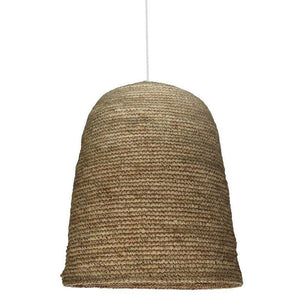 Cylindrical Dome Rattan Pendant Light-Pendants-Bisque Interiors-Lighting Collective