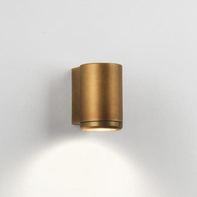Antique Brass Coastal One Way Cylinder Wall light-Wall Lights-Astro Lighting-Lighting Collective