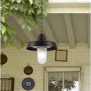 Italian Aged Brass Exterior Pendant Light-Pendants-FAVEL (Lightco)-Lighting Collective