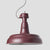 Italian Industrial Burgundy Pendant Light