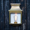 Simple French External Wall Light Gold