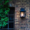 Simple French External Wall Light Black