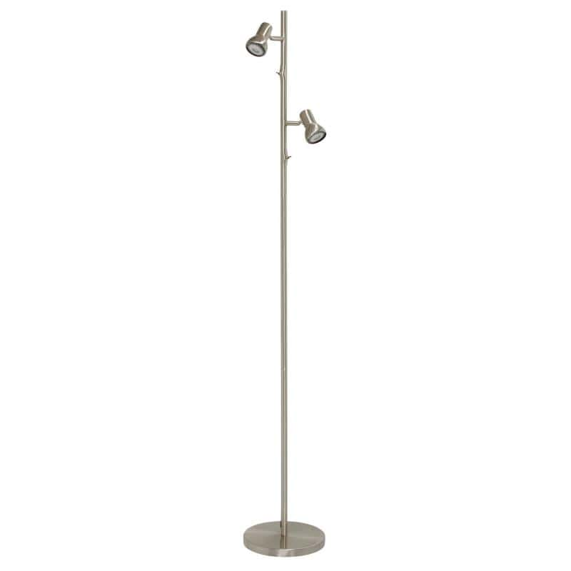 Adjustable LED Twin Floor Lamp Daxam in chrome