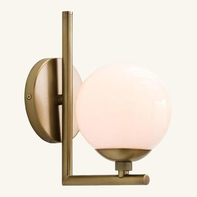 Antique Brass With Glass Globe Wall Light