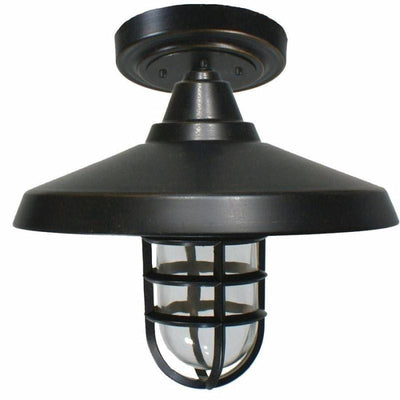 Antique Bronze Exterior Flush Mount Ceiling Light-Ceiling Lights-D'Epoca (Lighting Inspirations)-Lighting Collective