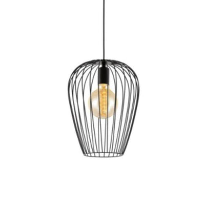 Black Wire Pendant Newtown-Pendants-Eglo-Lighting Collective