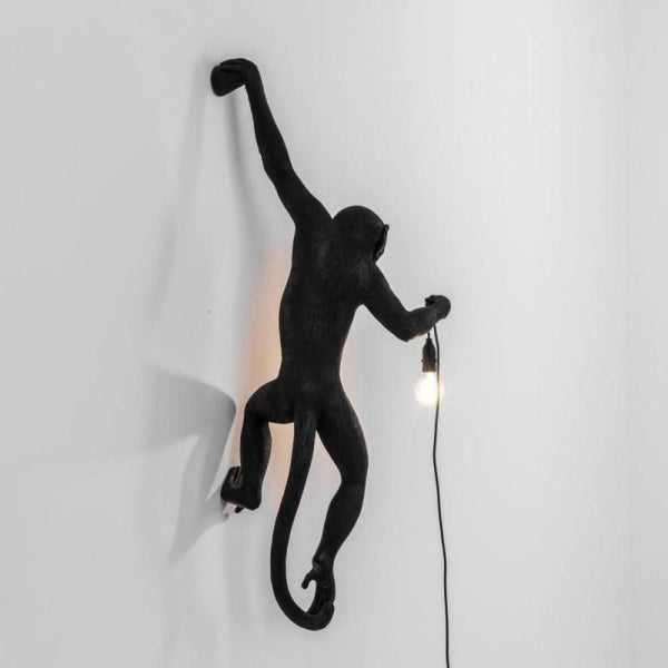 Black Monkey Hanging Wall Light Lighting Collective