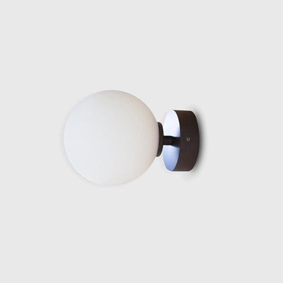 Simple Orb Wall Light dark bronze medium