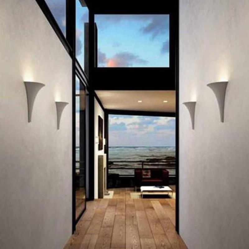 Ceramic Cone Plaster Wall Light - Made in Italy