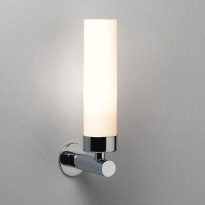 Chrome & Opal Glass Tubular Diffuser Wall Light