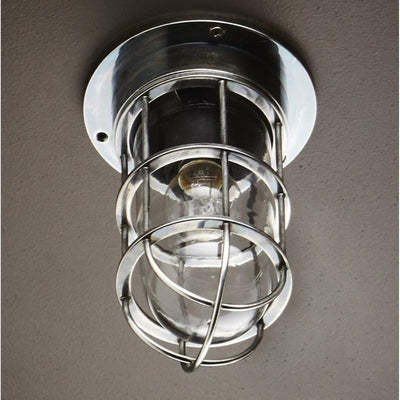 Vintage Style Caged Ceiling Light-Ceiling Lights-Emac & Lawton-Lighting Collective