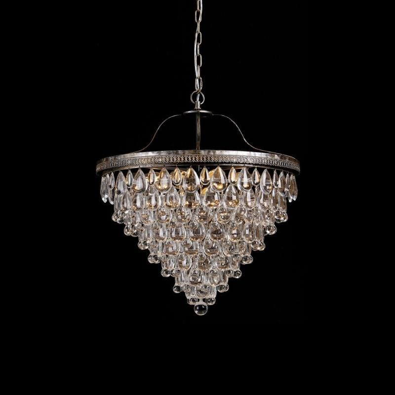 Classic Glass Tear Drops Chandelier - Large