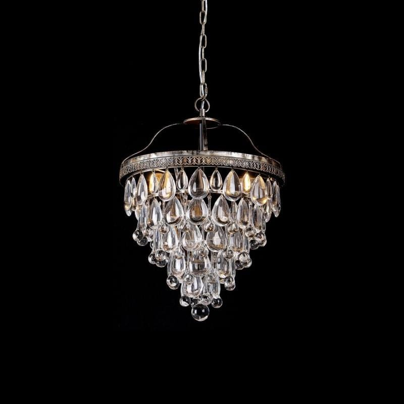 Classic Glass Tear Drops Chandelier - Small