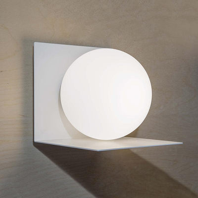 Contemporary Balancing Globe Wall Light