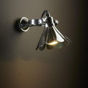 Vintage Style Wall Light in Silver-Wall Lights-Emac & Lawton-Lighting Collective
