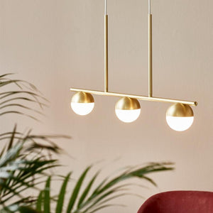 Trio Circular Horizontal Pendant Light | Assorted Finish Brass