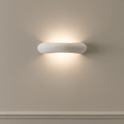 White Curved Maiolica Wall Light | Lighting Collective