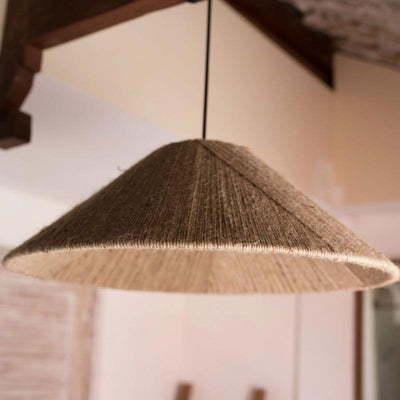 Woven Conical Organic Pendant | Lighting Collective
