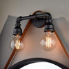 Industrial styled double pipe wall light