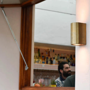 Modern Brass LED Wall Light | Lighting Collective
