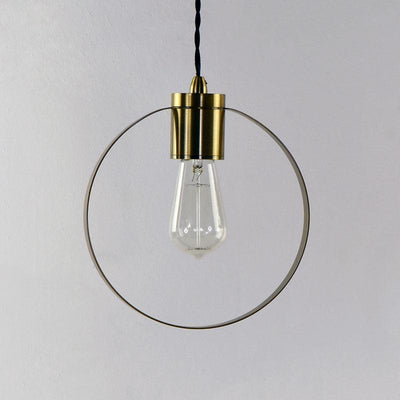Classic Timeless Ring Brass Pendant-Pendants-Lighting Republic (Light Co)-Lighting Collective