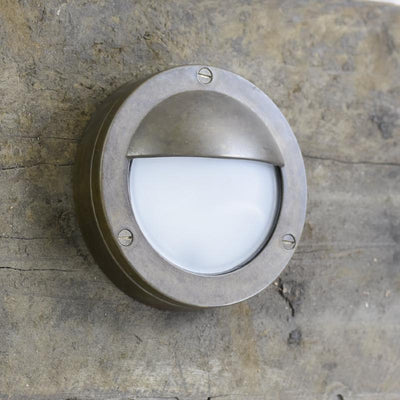 Aged Brass Eye Lid Italian Wall Light-Wall Lights-IL FANALE (Lightco)-Lighting Collective
