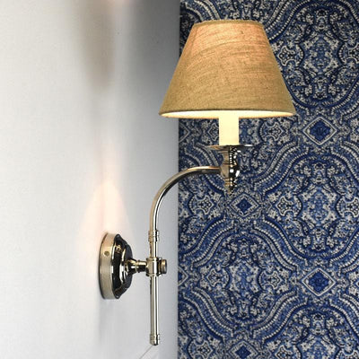 Traditional Curved Wall Sconce | Assorted Finishes & Shades-Wall Lights-Emac & Lawton-Lighting Collective