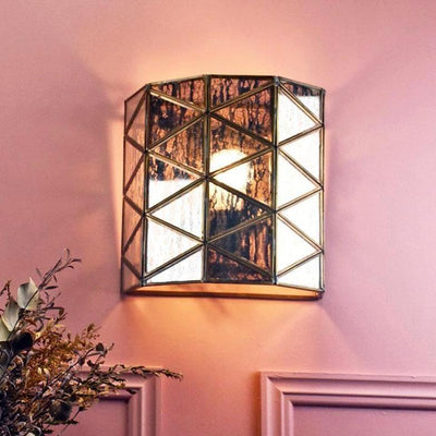 Bespoke Antiqued Brass & Glass Scone-Wall Lights-Emac & Lawton-Lighting Collective