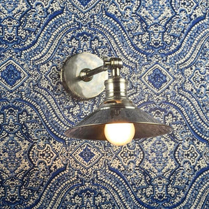 Antique Silver Adjustable Wall Lamp-Wall Lights-Emac & Lawton-Lighting Collective