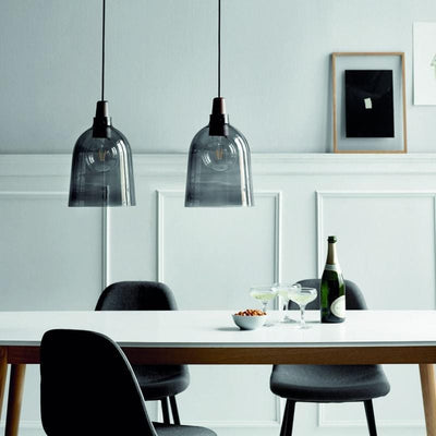 Danish Smoked Glass Pendant Light-Pendants-Nordlux (Form)-Lighting Collective