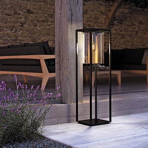 Black Designer Outdoor Floor Lamp