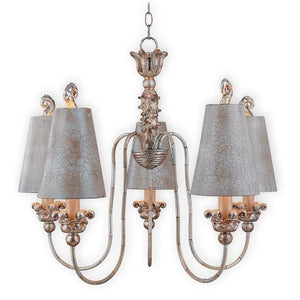 Chandelier With Intricate Hand Painted Crackle Effect-Chandeliers-FLAMBEAU (Lightco)-Lighting Collective