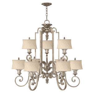 Hamptons Textured Fabric Shade Chandelier - Lighting Collective