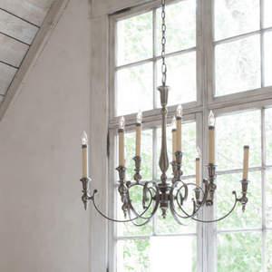 Hamptons Antique Candle Chandelier - Lighting Collective