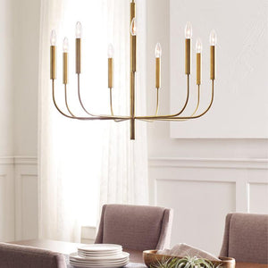 Elegant Elongated Arm Chandelier - Lighting Collective