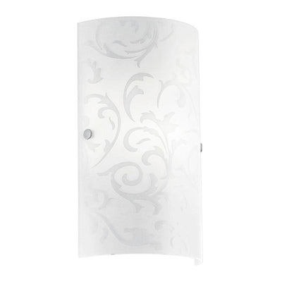 Elegant Curved Floral Opal Glass Wall Light | Amadora | SALE | Lighting Collective