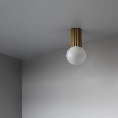 Fluted Brass Ceiling Light | Lighting Collective