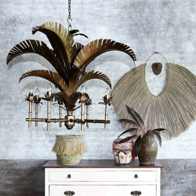 Bronze Coastal-Luxe Palm Chandelier | Lighting Collective